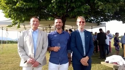 Yves Dreyer, Patrick Blanc (President du RC Morges) et Mathieu Jeannet (notre président)