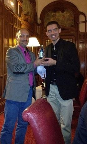 Arnaud Raulet et Jean-Sébastien Tenadet (Président 2012/2013) lors de son retour du Japon