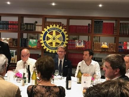 La table officielle -Presidents JC Jannin et M Jeannet